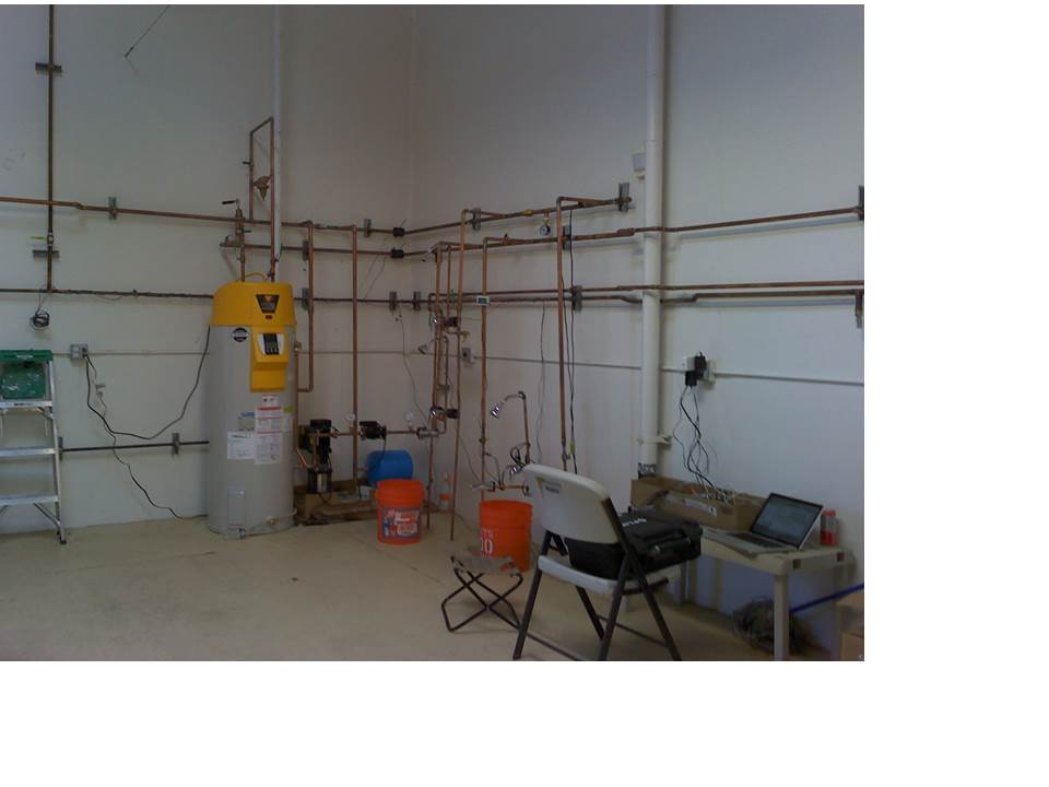 Enovative lab for testing fixtures and valves