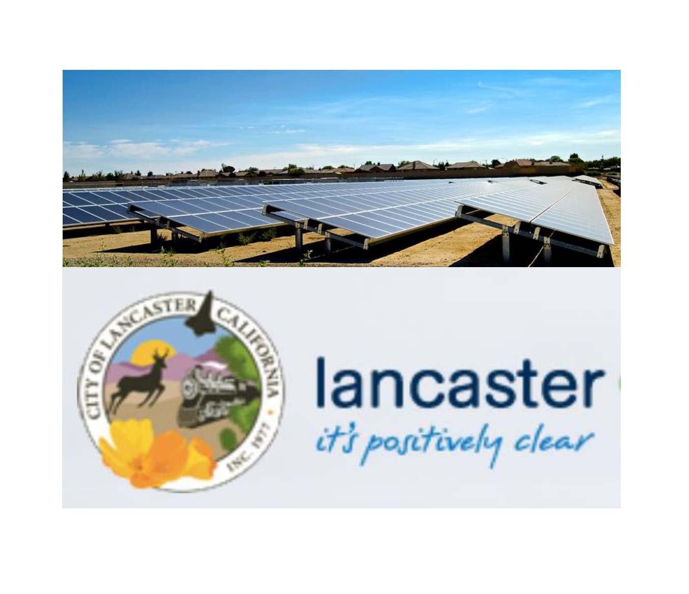 Solar fields in the City of Lancaster