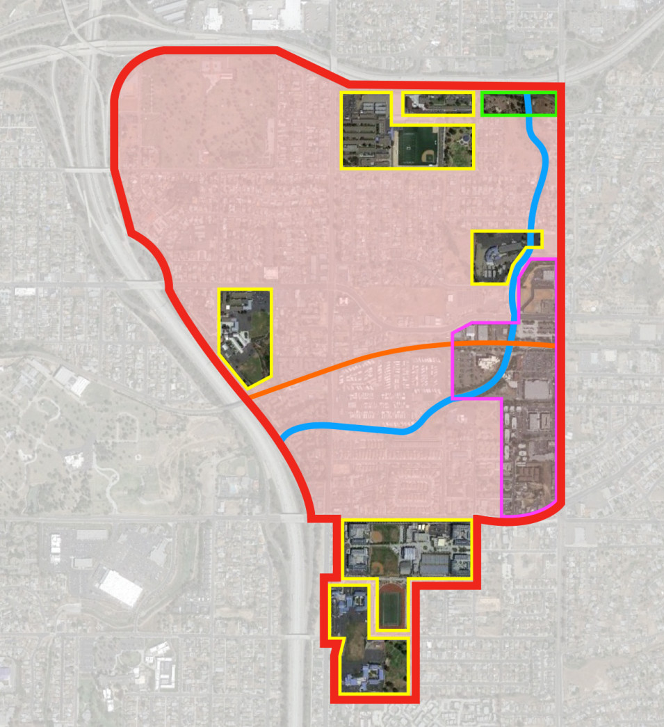Proposed location of the advanced energy community in the Encanto Community in Southeastern San Diego.