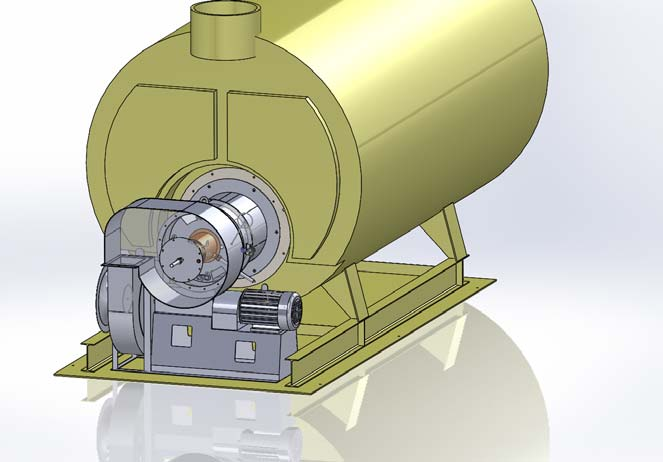 Installed Burner and Boiler Illustration
