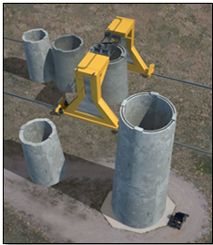 Example of how low-cost, ultra-tall wind turbine towers may be built on-site