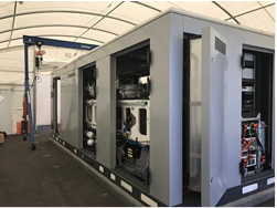Packaged CHP system in Partially Completed Enclosure