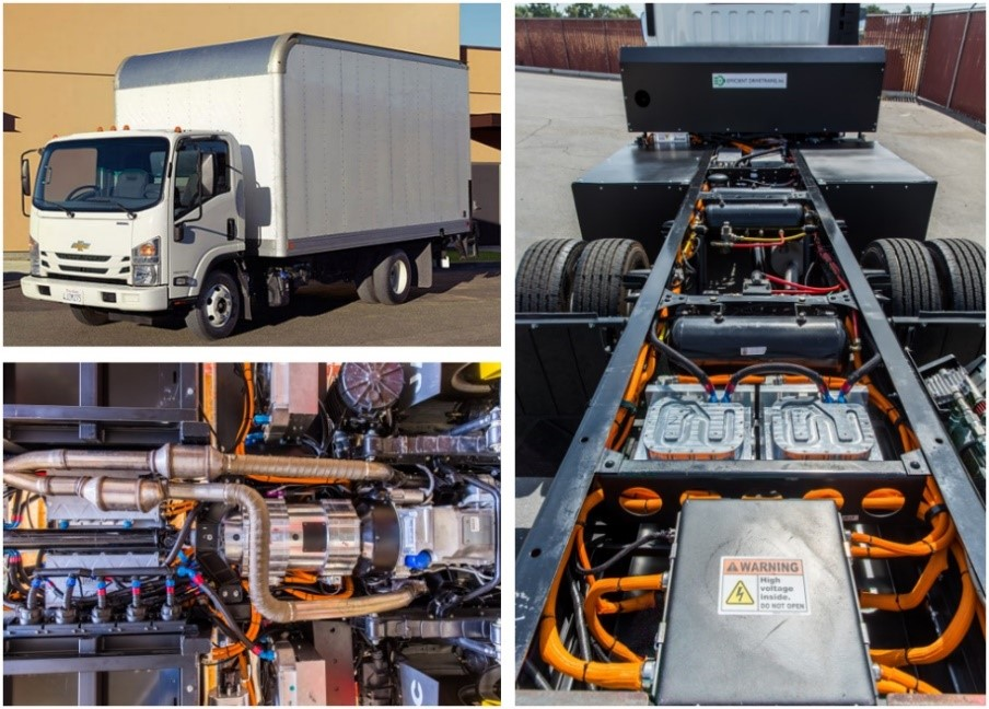 Advanced Hybrid Drivetrain for a Class 4 Truck