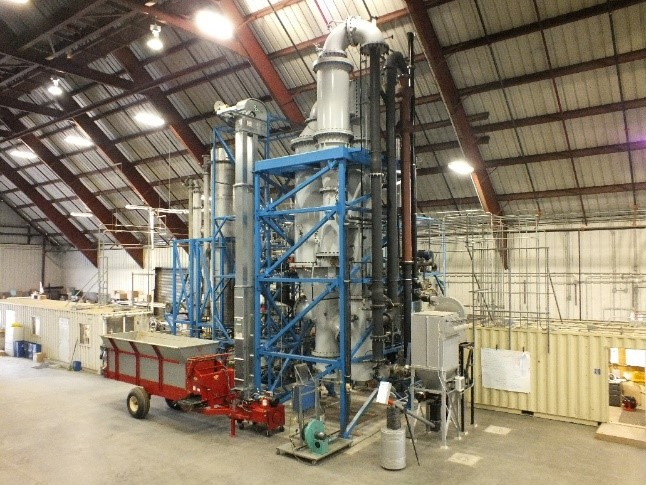 West Biofuel's existing catalytic synthesis reactor to be scaled up for the current project.